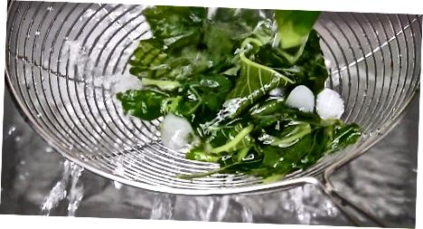Kochender Spinat