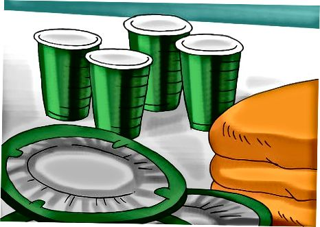 Basteldekorationen für Essen und Trinken
