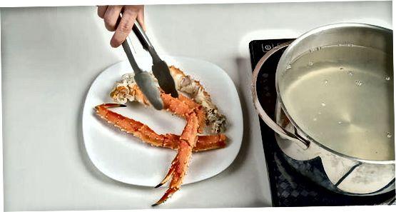Varenie kraba v obyčajnej slanej vode