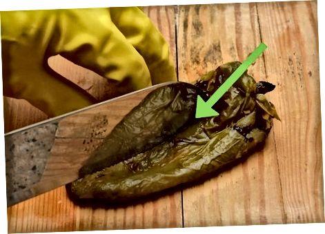 Flögnun steiktra papriku