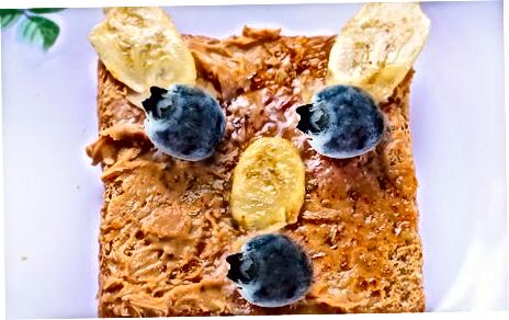 Peanut Butter Toast Banana Blueberry Bears