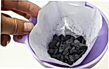 Filteren met geactiveerde houtskool