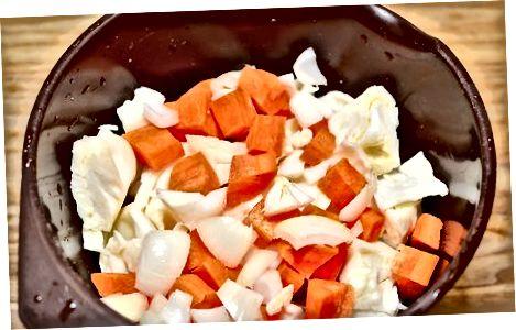 Gemüse hinzufügen