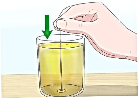 Prova de la prova de la làmpada d'oli
