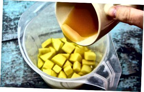 Dondurulmuş meyvədən istifadə edərək Mangonadas etmək