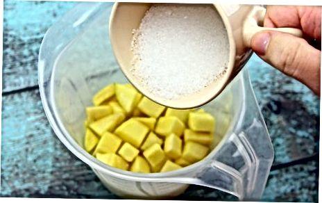 Priprava mangonad z uporabo svežega sadja