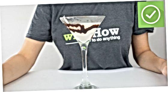 Een Martini met witte chocolade repareren