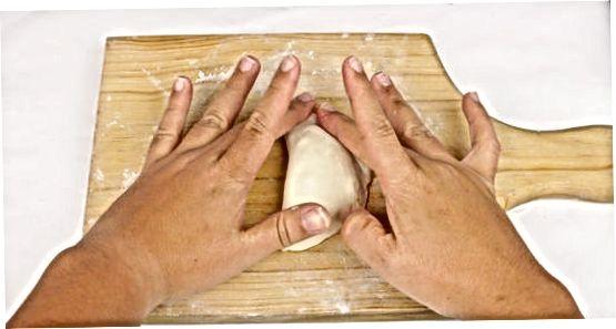 Embalatge d'una forma de mitja plissada