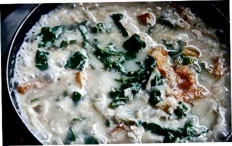 Ugu-Suppe zubereiten