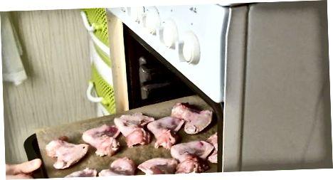 Krõbedate küpsetatud kanatiibade valmistamine