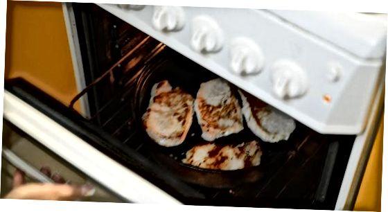 Izdelava brinovih in pečenih debelih svinjskih kotlet