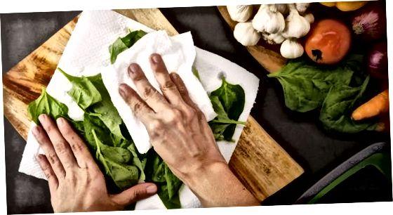 Preparació de verdures per a l'emmagatzematge