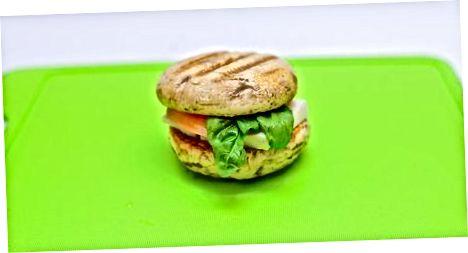 Grab Portabella va Halloumi burgerlari