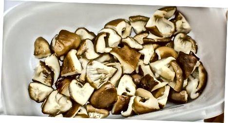 Заморожування парених грибів