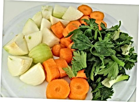 Pagrindinio daržovių sultinio gaminimas