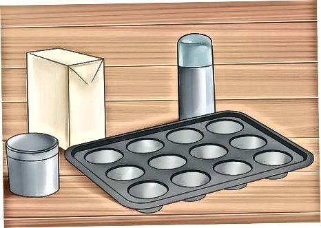 Muffinlarni tayyorlash uchun chap tomondagi pancake batareyasidan foydalanish