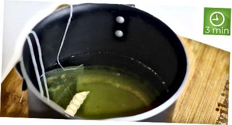 গরম উত্তোলনের গ্রীন টি তৈরি করা