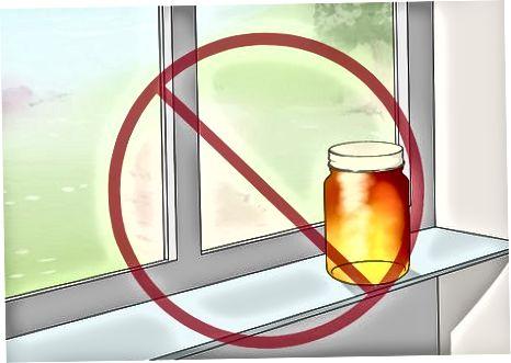Armazenamento de mel para uso a curto prazo