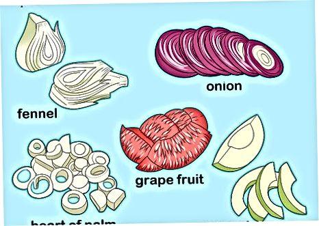 Dilimlenmiş arpabodiyon bilan yozgi salat tayyorlash