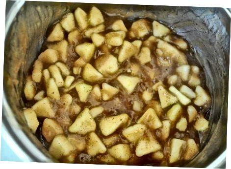 De appeltaart vullen