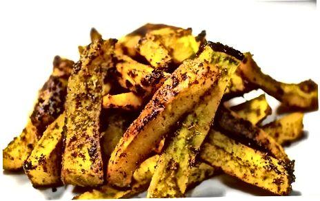 Pishirilgan butternut qovoq chiplari - Fries