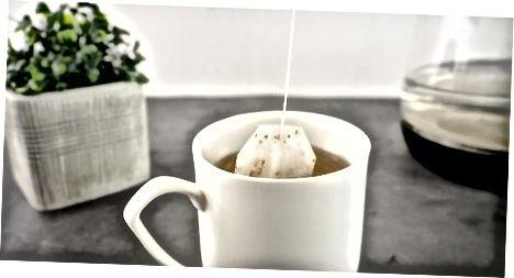 Embeber sacos de chá verde