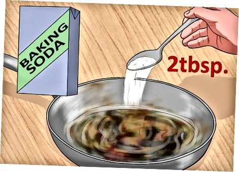 Використання оцту та харчової соди для випалених каструль