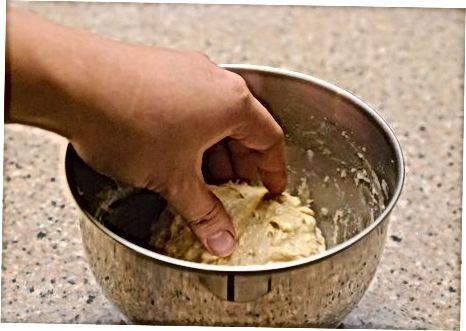 Utilitzant farina de civada