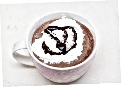 """Klop de bevroren """"hete"""" cacao op"""