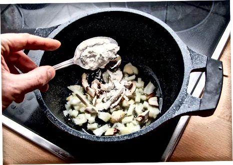Å lage krem av soppsopp