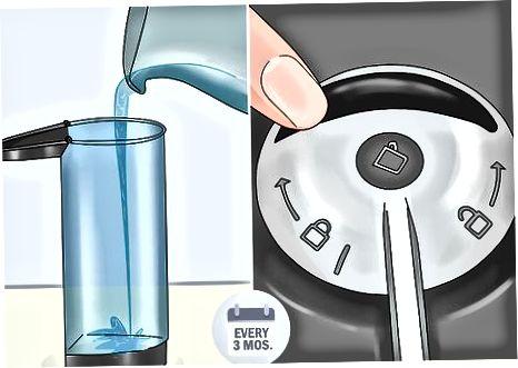 Odstranjevanje vodnega kamna iz stroja