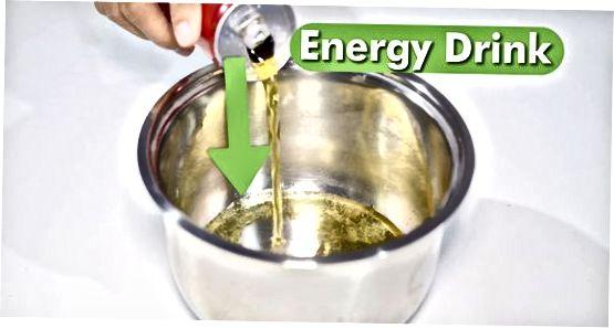 Fazendo gelatina usando uma bebida energética com cafeína