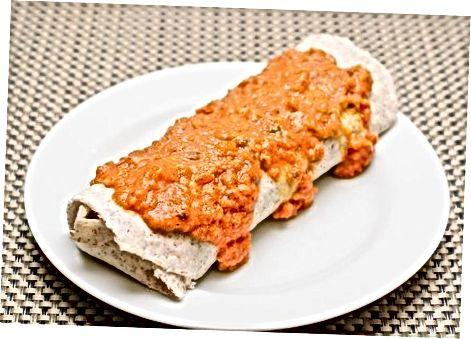 Saus enchilada vegan merah