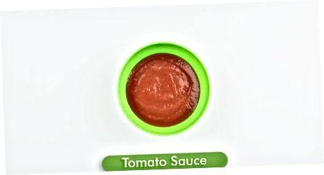 Naudojant nuluptus pomidorus