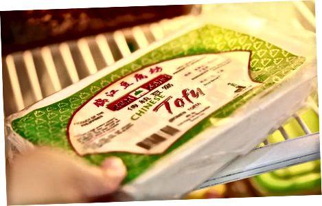फ्रिज में टोफू का भंडारण