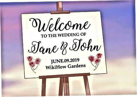 Afegint cal·ligrafia a la decoració del casament