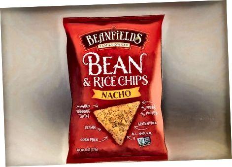 Sélection de chips saines au magasin