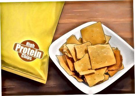 Valg af sunde chips i butikken