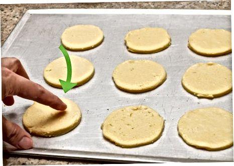 Snijden van de koekjes