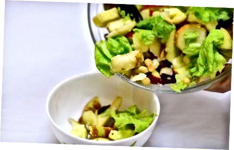 Padaryti rudens pjaustytų salotų