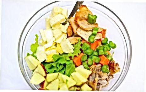 Rudeninės kobros salotų paruošimas