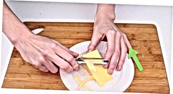 Rífa ost með því að spinna