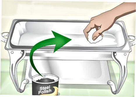 एक चाफिंग डिश की सफाई