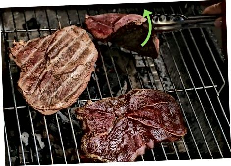 Grilling the Steak