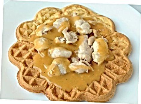 Të paturit e pulave dhe waffles stilit holandez të Pensilvanisë