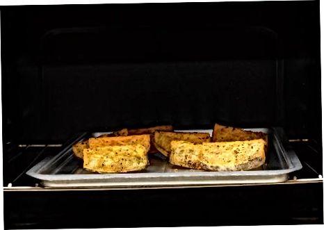 Прављење брзих печених клинова слатког кромпира