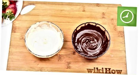 De chocolade smelten