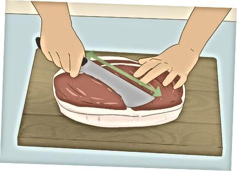 Schneiden mit einem normalen Messer