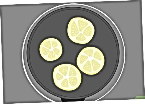 Limon va o'tlar bilan chiziqli boshni ohanglash