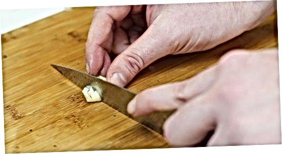 Steiktar hvítlauks kartöflur
